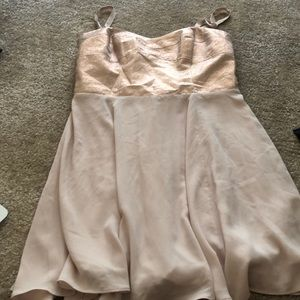 Express Glittery Light Pink Cocktail Dress